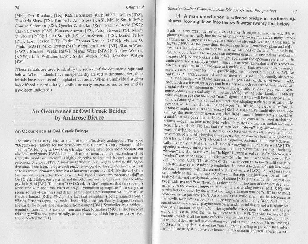 "literary analysis essay on an occurrence at owl creek bridge There are several examples of the way vision establishes elements of realism in ""an occurrence at owl creek bridge 7223 literature essays analysis of."